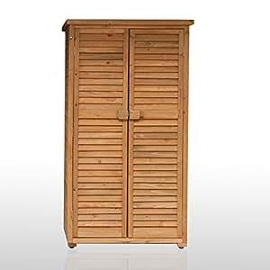 armoire exterieur de rangement pour terrasse et jardin en bois 87x46x160 solido par jarsya. Black Bedroom Furniture Sets. Home Design Ideas