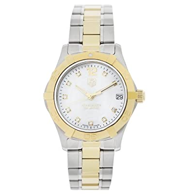 "TAG Heuer Women's WAF1320.BB0820 ""Aquaracer"" Stainless Steel, 18k Gold, and Diamond Watch"