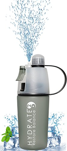 hydrate2-cooling-mist-and-drink-2-in-1-water-bottle-400ml-black