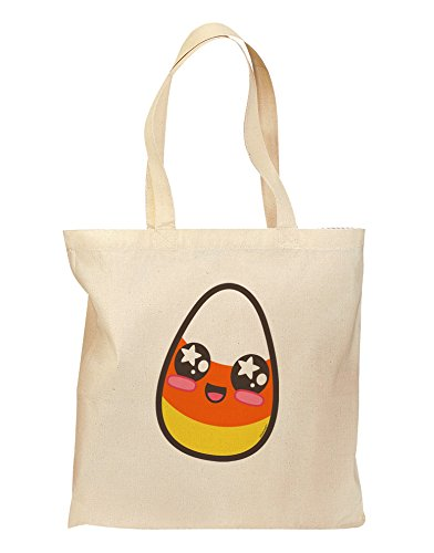 Cute Boy Child Candy Corn Family Halloween Grocery Tote Bag - Natural