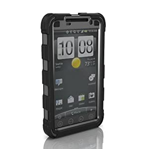 Ballistic HC Black/Gray with Holster for HTC EVO - 1 Pack - Case - Retail Packaging