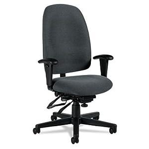 Granada Series High-Back Multi-Tilter Chair, Polypropylene Fabric, Gray