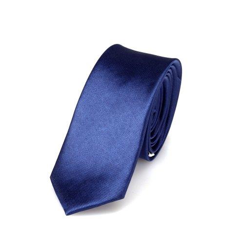 Cravatta DonDon Uomo blu 5 cm di larghezza