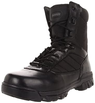 Bates Men's Ultra-Lites 8 Inches Tactical Sport Side Zip Work Boot,Black,7 M US