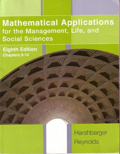 Mathematical Applications: For the Management, Life, and Social Sciences, 8th Edition