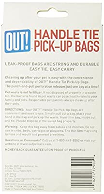 Out! 100 Count Handle Tie Waste Pick-Up Bags for Dogs
