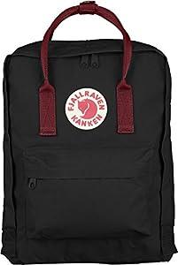 Fjallraven Kanken Daypack, Black/Ox Red