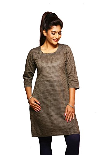 Weaves Suvasthra Weaves Women's Kurti (Grey)