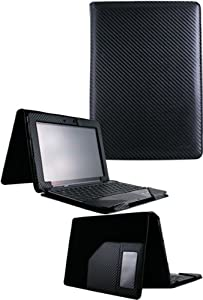 HHI Keyboard Case with Slim Portfolio Stand Cover for Asus Transformer Pad TF300 - Carbon Fiber (Package include a HandHelditems Sketch Stylus Pen)