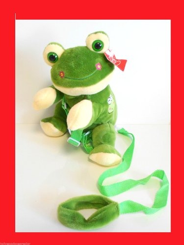 KIDS TODDLER FROG FROGGY SAFETY HARNESS LEASH BACKPACK - 1