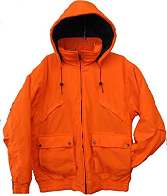 Trail Crest Men's Safety Blaze Orange Insulated & Waterproof Tanker Jacket