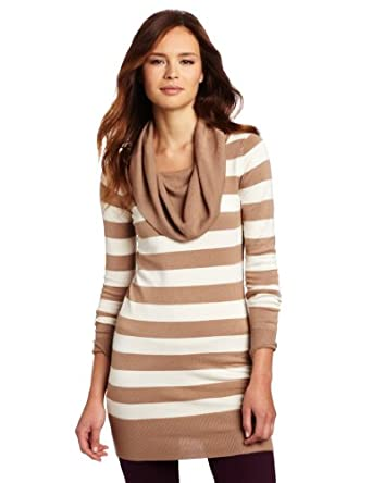 (新品)French Connection Women's Bambi Stripe Cowl Neck Sweater女式针织衫$42.10