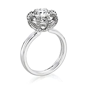 Diamond Engagement Ring 1 1/2 ct, K Color, VS1 Clarity, GIA Certified, Round Cut, in 18K Gold / White