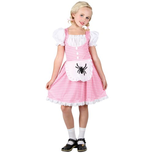 [Med. Girls Kids Storybook Miss Muffet Outfit Costume for Fairytale Fancy Dress] (Miss Muffet Costumes)
