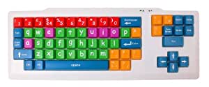 "DURAGADGET Colourful ""Kid's Proof"" Childrens, Special Needs Or Sight Impared PC Keyboard PS2/USB - Great For Teaching / Learning"