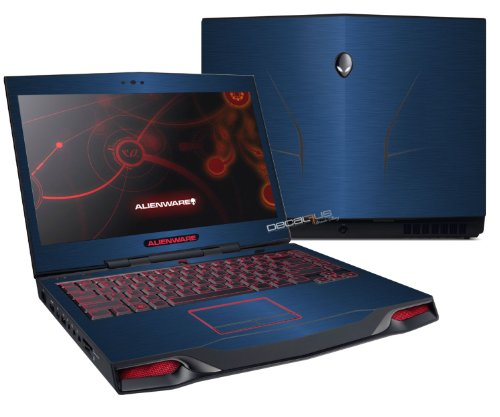 Decalrus – Alienware M14X R2 R3 BLUE Texture Brushed Aluminum skin skins decal for case cover wrap BAalienwrM14XBlue