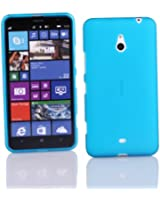 Kit Me Out FR Coque en gel TPU pour Nokia Lumia 1320 - bleu impression givre