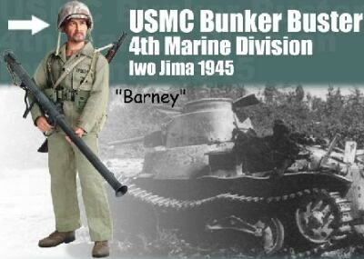 Buy Low Price Dragon Barney WWII USMC Bunker Buster 4th Marine Division Bazookaman Iwo Jima 1945 Figure (B000E79DKW)
