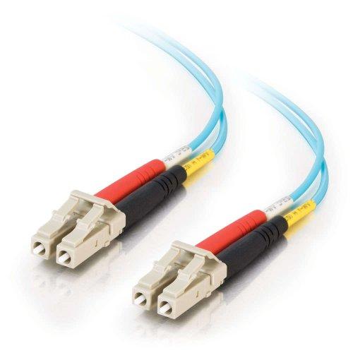 C2G / Cables To Go 33045 Lc-Lc 10Gb 50/125 Om3 Duplex Multimode Pvc Fiber Optic Cable, Aqua (1 Meter)