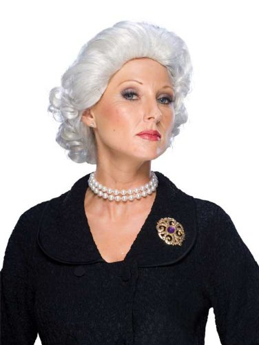 Rubie's Costume Queen Wig, White, One Size - 1