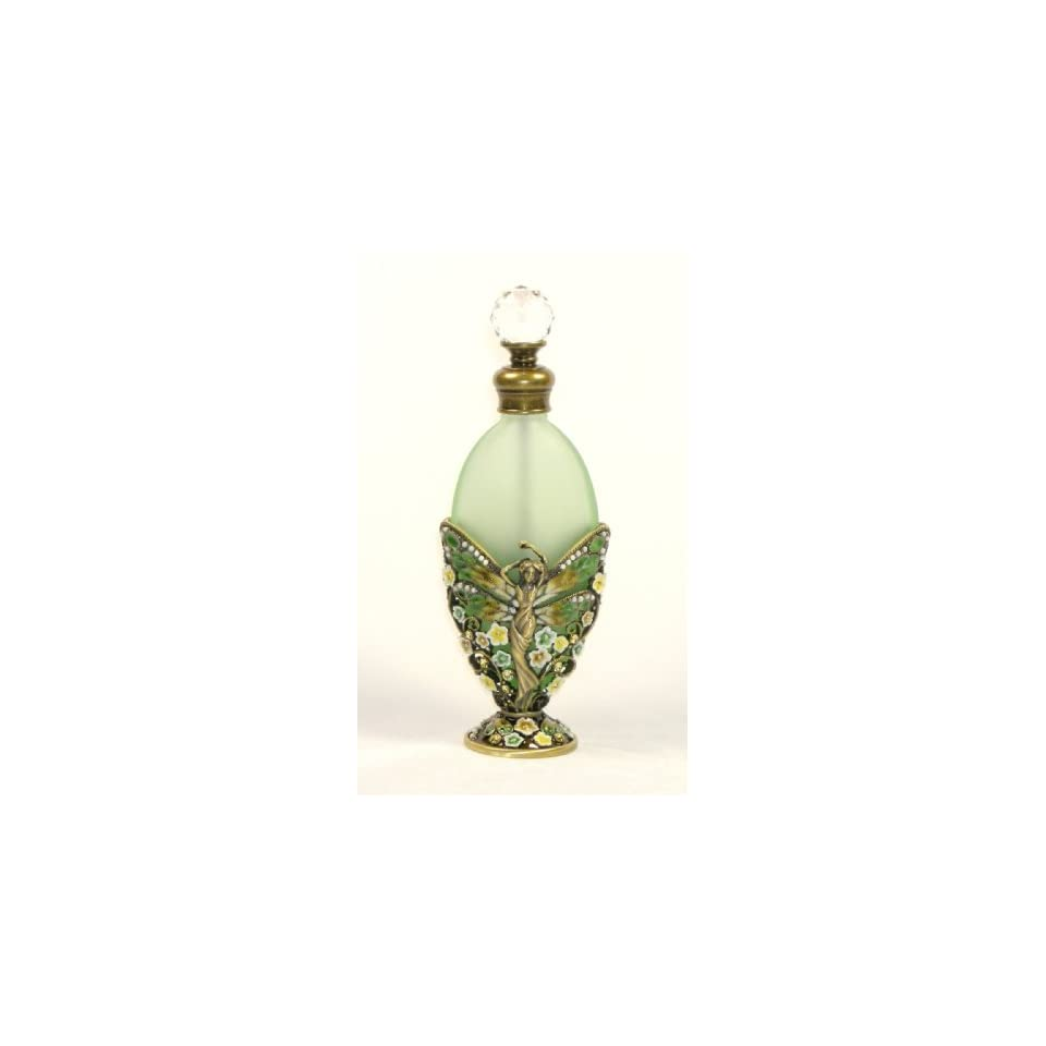 Perfume Bottle (Fairy Butterfly with Yellow Rhinestones) PB 723 Beauty