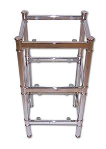 pem america 3 tier metal bathroom wall shelf. Black Bedroom Furniture Sets. Home Design Ideas