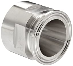 Dixon 22MP-G15075 Stainless Steel 304 Sanitary Fitting, Clamp Adapter, 1-1/2\