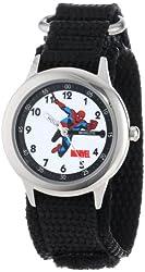 """Marvel Kids' W000115 """"Spider-Man Time Teacher """" Stainless Steel Watch"""