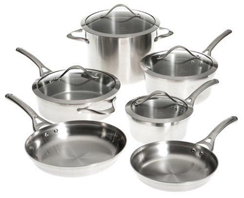 Calphalon Contemporary Stainless 10-Piece Cookware Set