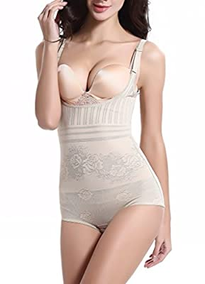 Aibrou Damen Shapewear Figurformender Formende Bodys Taillenformer angenehm Shaping Bodysuit mit Haken