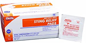 Dukal Sting Relief Pad, Medium, 2 Ply, Non-Sterile, 1 Pch 200 Bx 20Bx Cs (20 Pieces) by Dukal