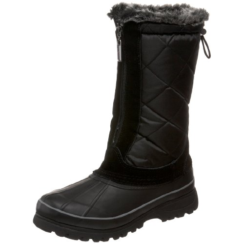 Khombu Women's Upland 2 Faux Fur Waterproof Boot,Black,10 M US