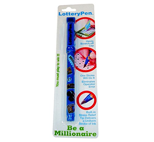 Lottery Pen, Lottery Ticket Pen, Marker with Scratch Off Card Remover, Scratch-Off Ticket Lottery Pen, Lottery Scratchier, Scratchier Free Lottery Pen - Special Nib for Card Marking, Instant Ticket Scratcher. (Scratch Off Tickets Love compare prices)
