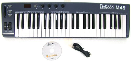 New BadAax MP49 MIDI Keyboard Controller