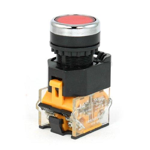 Red Momentary Push Button Switch Ac 230V 6A Ac 400V 4A 1No 1Nc Dpst