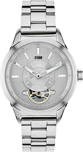 Storm 47176/S - Orologio da polso da uomo, cinturino in acciaio inox colore argento