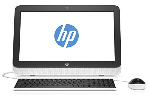 HP 20-r102nf Ordinateur Tout-en-un 19,5″ Blanc (AMD E1, 4 Go de RAM, Disque dur 1 To, Windows 10)