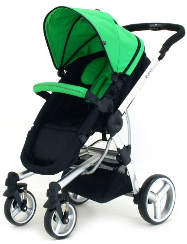 Petite Star Kurvi Match Pushchair Including Footmuff, Change Bag and Liner (Green)