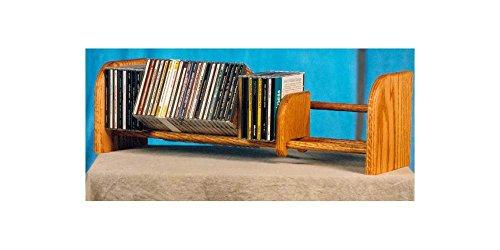 1 Row Dowel CD Rack (Honey Oak) (Wood Dowel Rack compare prices)