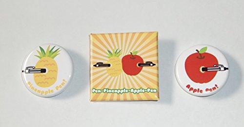 PPAP (Pen-Pineapple-Apple-Pen) 缶バッジ3個セット ? ピコ太郎