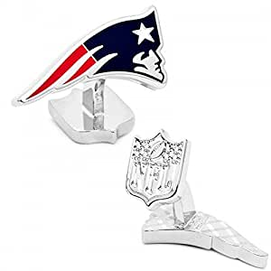Excutive Edition New England Patriots Cufflinks Solid Whale Tail Post Cuff Links