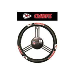 Fremont Die Kansas City Chiefs Steering Wheel Cover by Caseys