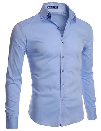 Doublju Mens Gold Button Dress Shirts At Amazon Men S