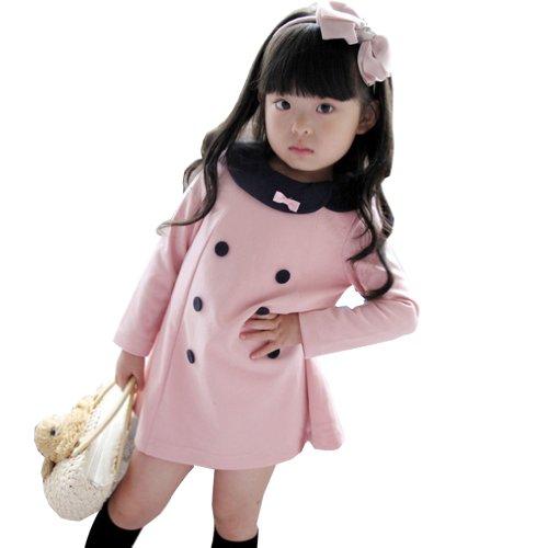 Little Hand Little Girls' Shirts Pink Princess Dress front-1007376