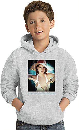 Lana Del Rey Retro American Style Felpa leggera con Cappuccio per Bambini Lightweight Hoodie For Kids | 80% Cotton-20%Polyester| Fashion 7-8 yrs