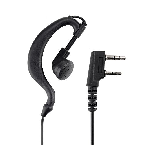 Baofeng Black PTT Earpiece Earphone Headset Mic for Baofeng UV-5X 5R TYT Ham Two-way Radio Walkie Talkie Transceiver (Baofeng Head compare prices)