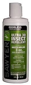 Sawyer Products Premium Ultra 30% DEET Insect Repellent in Liposome Base Lotion, 3-Ounce