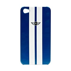 Mini Cooper Stripe Metallic Hard Case for iPhone 4/4S - Laser Blue