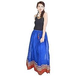 Prateek Retail Rajasthani Ethnic Blue Pure Cotton Skirt