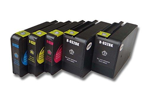 vhbw Druckerpatronen Tintenpatronen Set für HP Officejet 6100 eprinter, 6600 E-ALL-IN-ONE, 6700 Premium wie HP 932, 932XL, 933, 933L